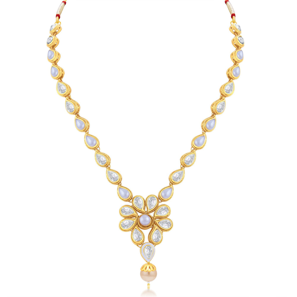 Sukkhi Excellent Gold Plated Choker Necklace Set For Women-1