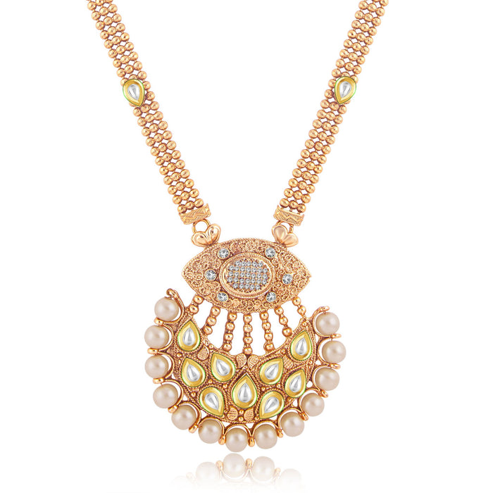 Sukkhi Exotic Gold Plated Long Haram Necklace Set For Women-1