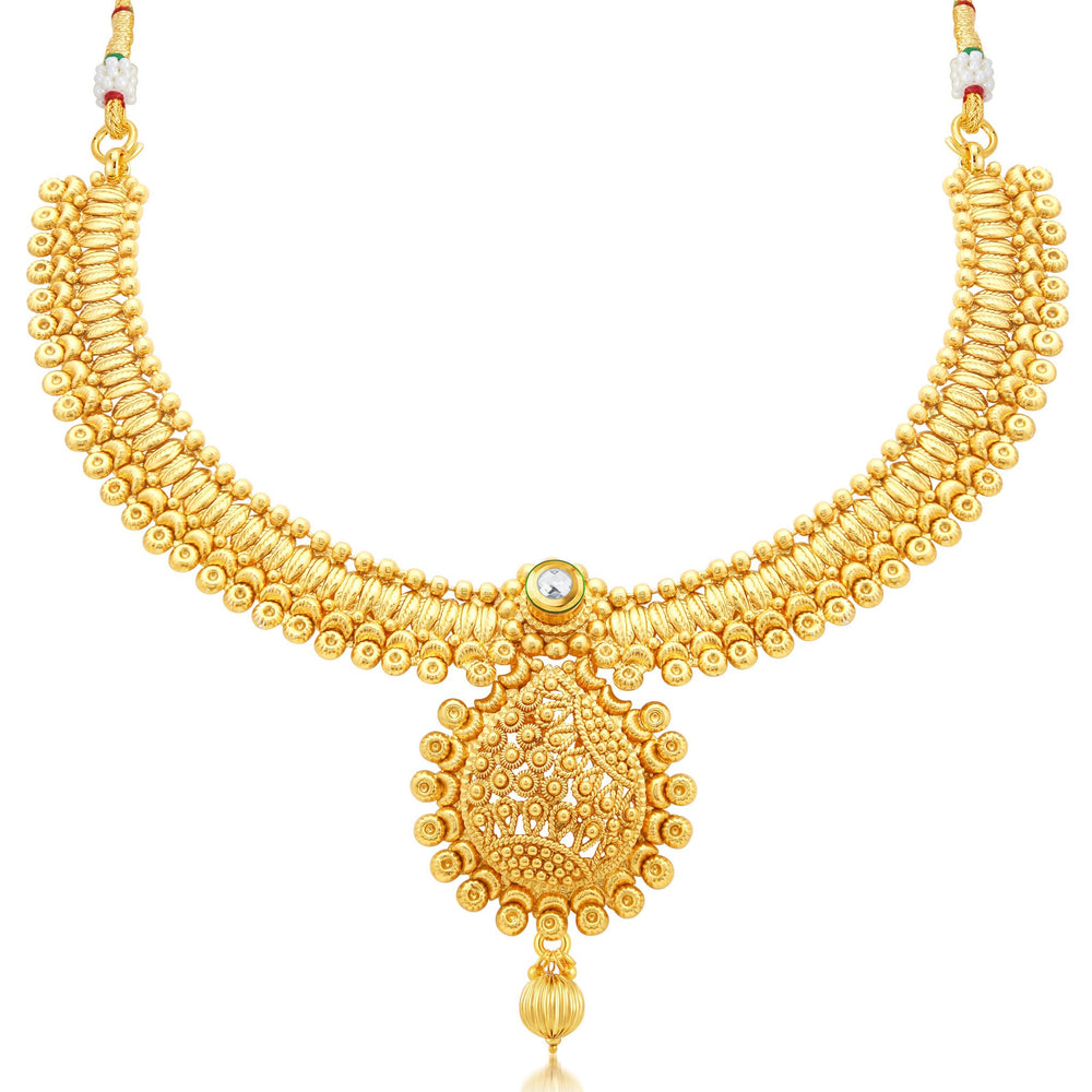 Sukkhi Ethnic Gold Plated Collar Necklace Set For Women-1