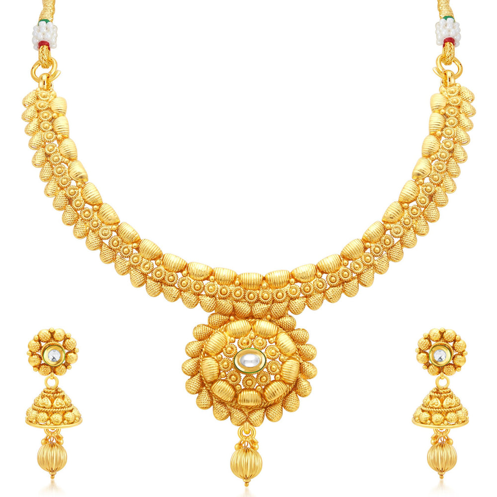 Sukkhi Sublime Gold Plated Collar Necklace Set For Women
