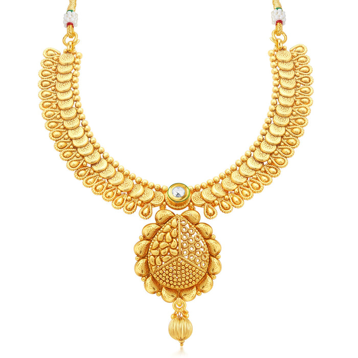 Sukkhi Fine Jalebi Gold Plated Collar Necklace Set For Women-1