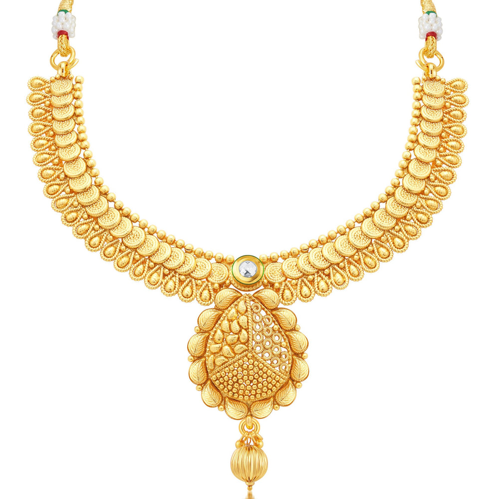 Sukkhi Fancy Jalebi Gold Plated Collar Necklace Set For Women-1