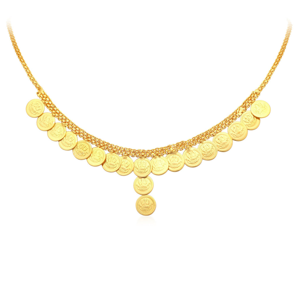 Sukkhi Pleasing Laxmi Coin Temple Gold Plated Collar Necklace For Women