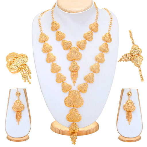 Sukkhi Amazing Gold Plated Bridal Necklace Set For Women