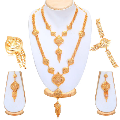 Sukkhi Glamorous Gold Plated Bridal Necklace Set For Women