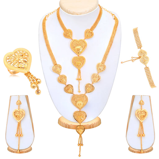 Sukkhi Angelic Gold Plated Bridal Necklace Set For Women