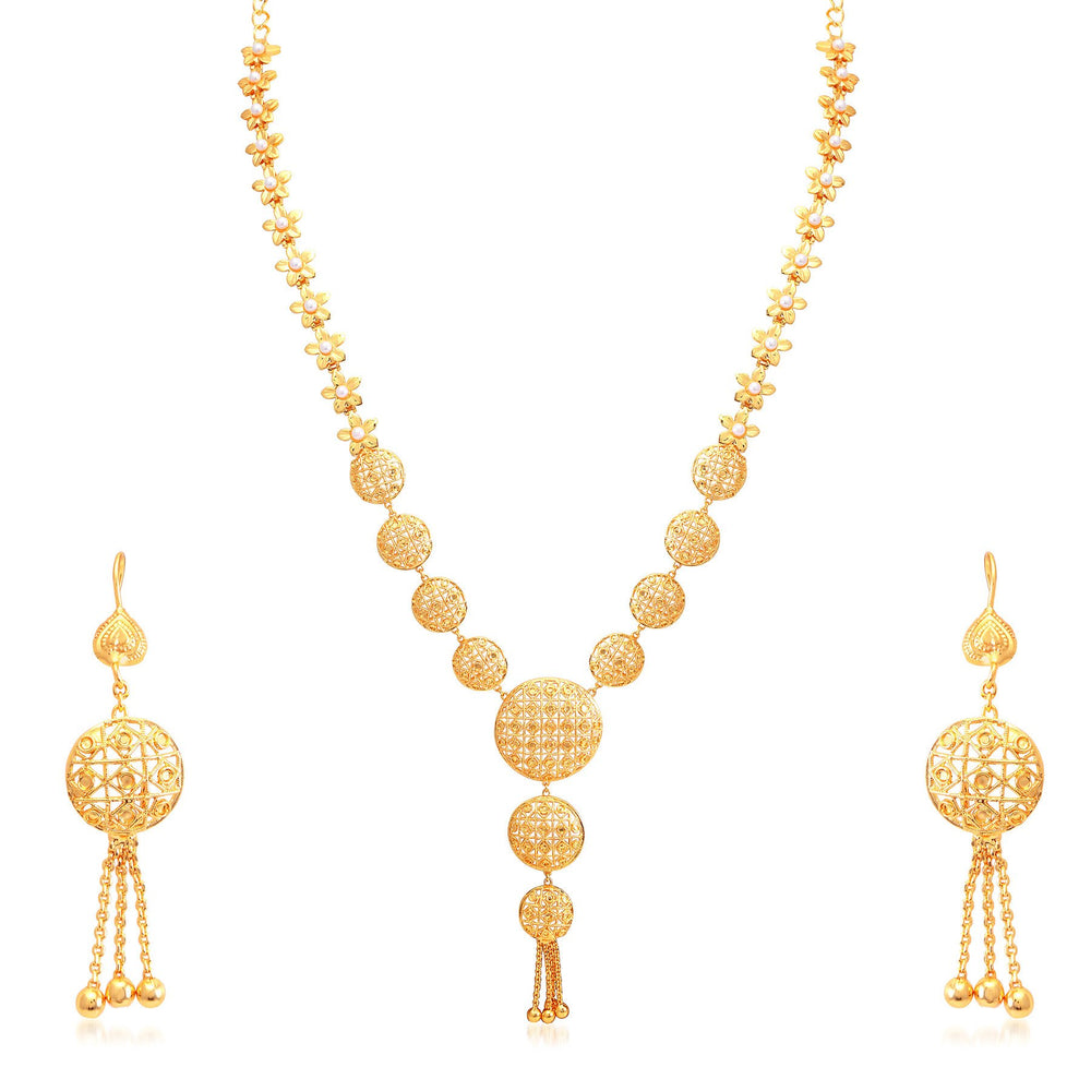 Sukkhi Gorgeous Gold Plated Bridal Necklace Set For Women-1