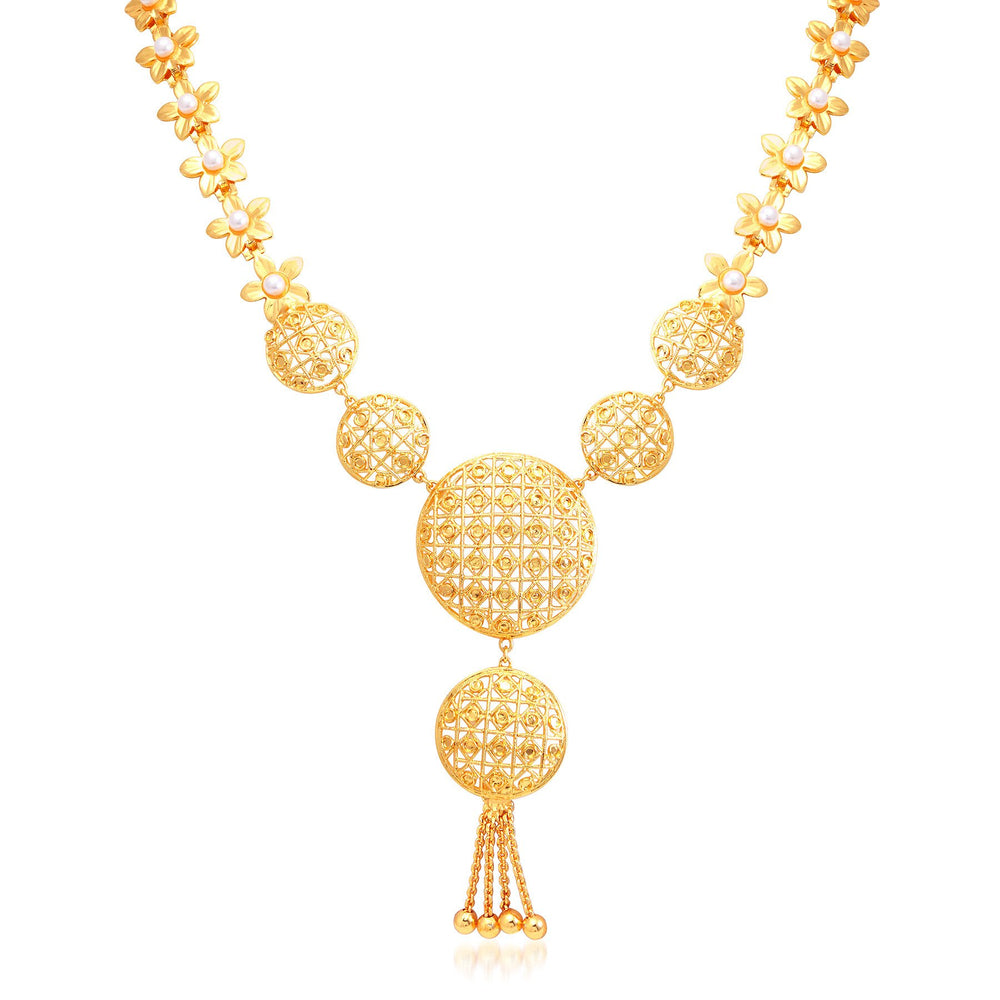 Sukkhi Gorgeous Gold Plated Bridal Necklace Set For Women-2