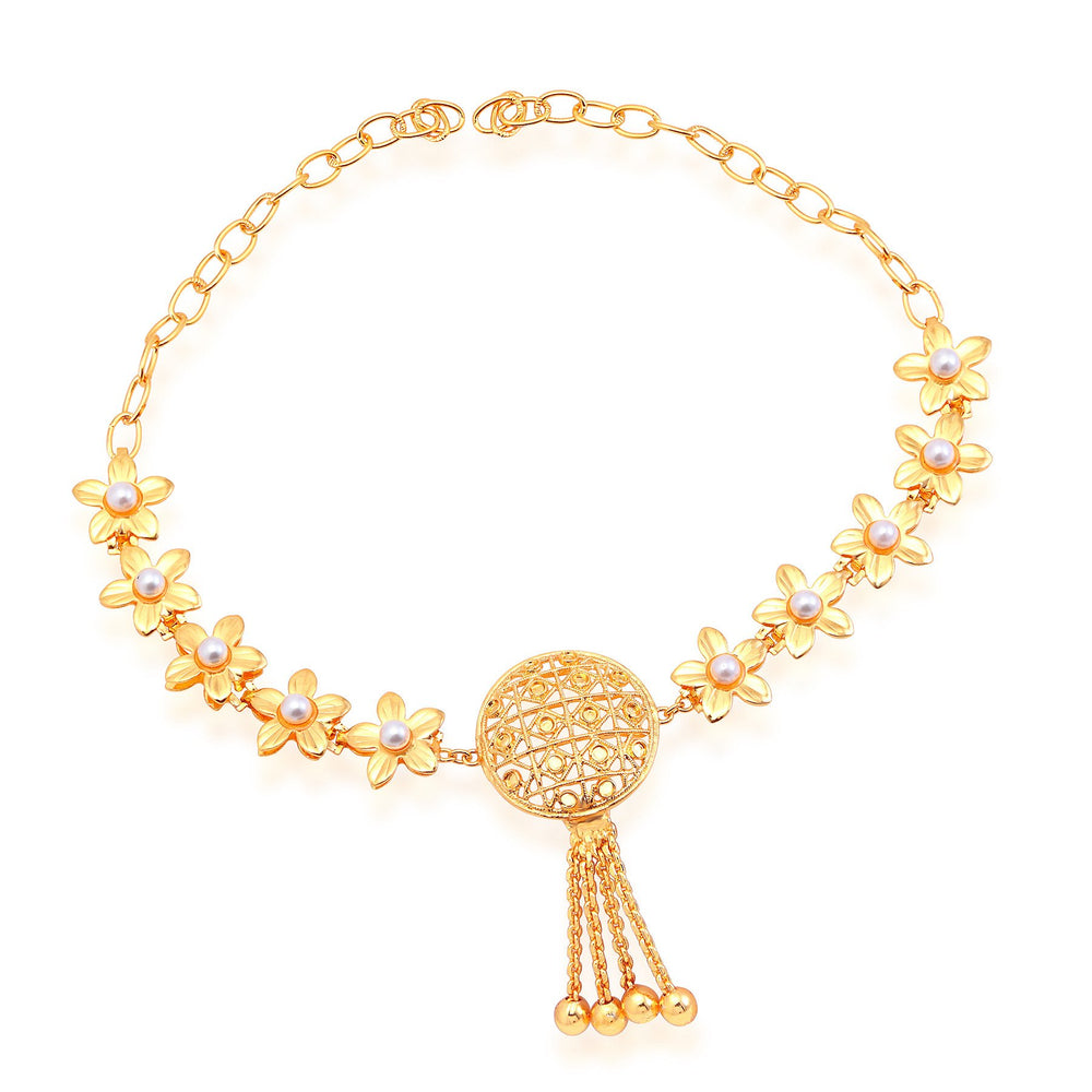 Sukkhi Gorgeous Gold Plated Bridal Necklace Set For Women-5