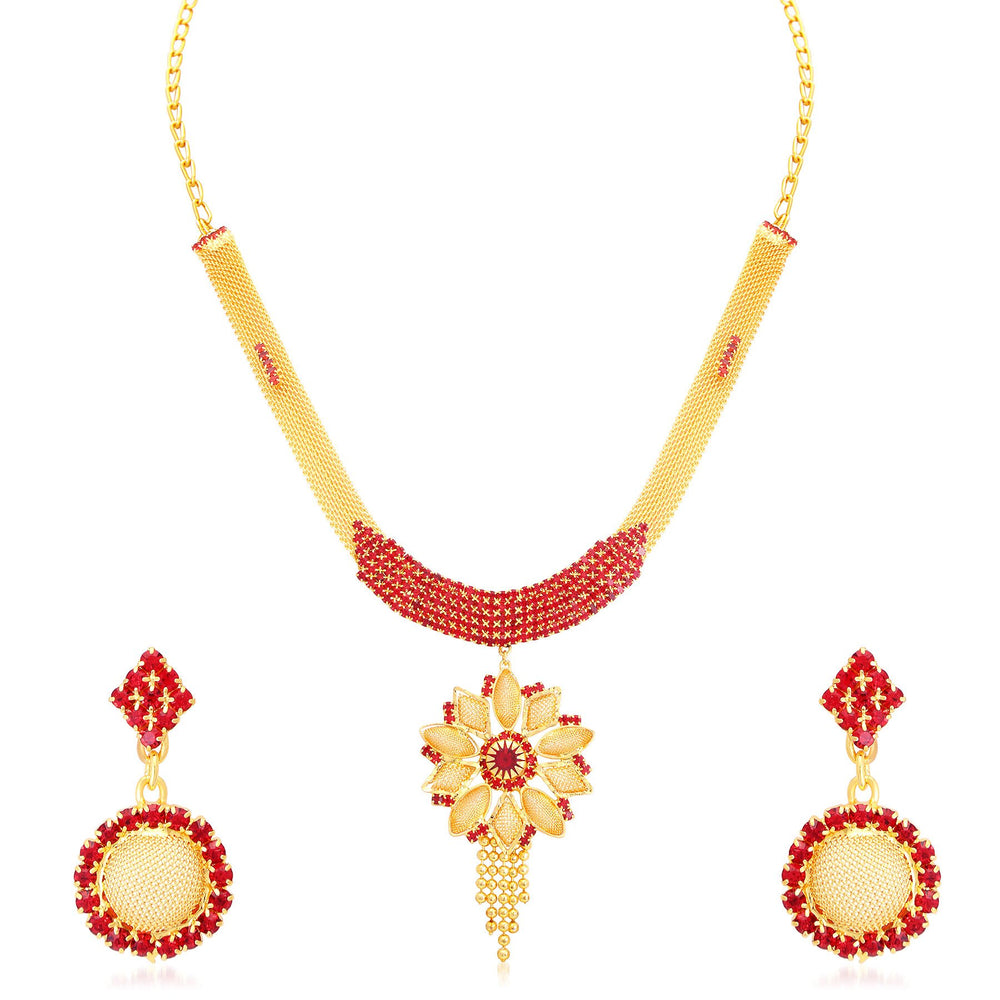 Sukkhi Astonish Gold Plated Collar Necklace Set For Women