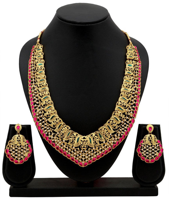 Sukkhi Incredible Gold Plated Collar Necklace Set For Women-2