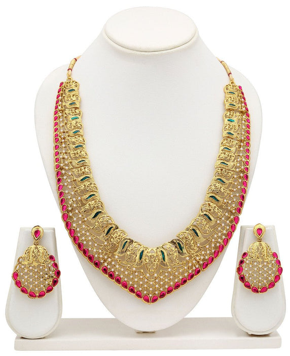 Sukkhi Incredible Gold Plated Collar Necklace Set For Women-3