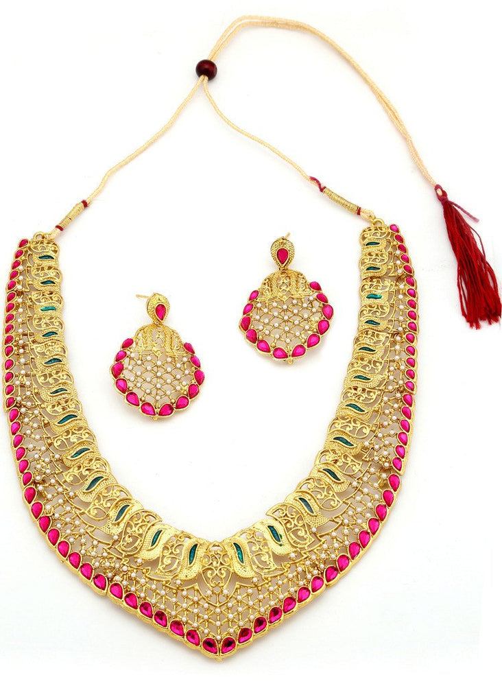 Sukkhi Incredible Gold Plated Collar Necklace Set For Women-6