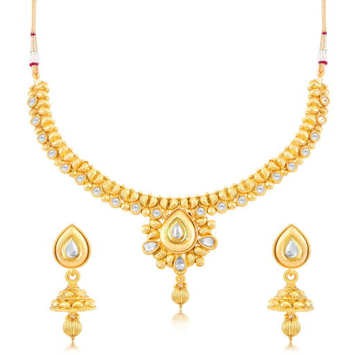 Sukkhi Incredible Gold Plated Choker Necklace Set for women