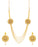 Sukkhi Attractive Round Shaped 4 String Gold Plated Necklace set for women