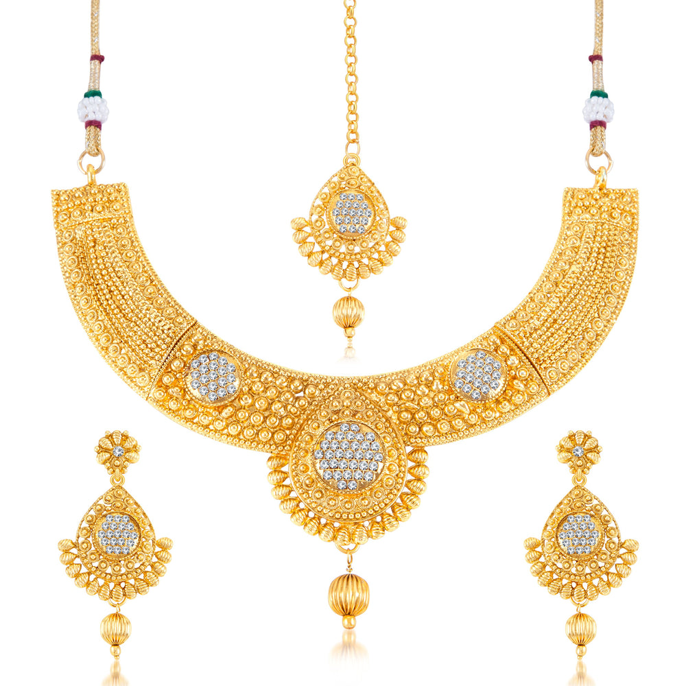 Sukkhi Traditional Gold Plated necklace set for women