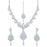 Sukkhi Ravishing AD Rhodium Plated necklace set for women
