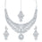 Sukkhi Moddish AD Rhodium Plated necklace set for women