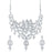 Sukkhi Classic AD Rhodium Plated necklace set for women