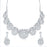 Sukkhi Fabulous AD Rhodium Plated necklace set for women