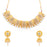 Sukkhi Appealing AD Gold Plated Choker Necklace Set for women