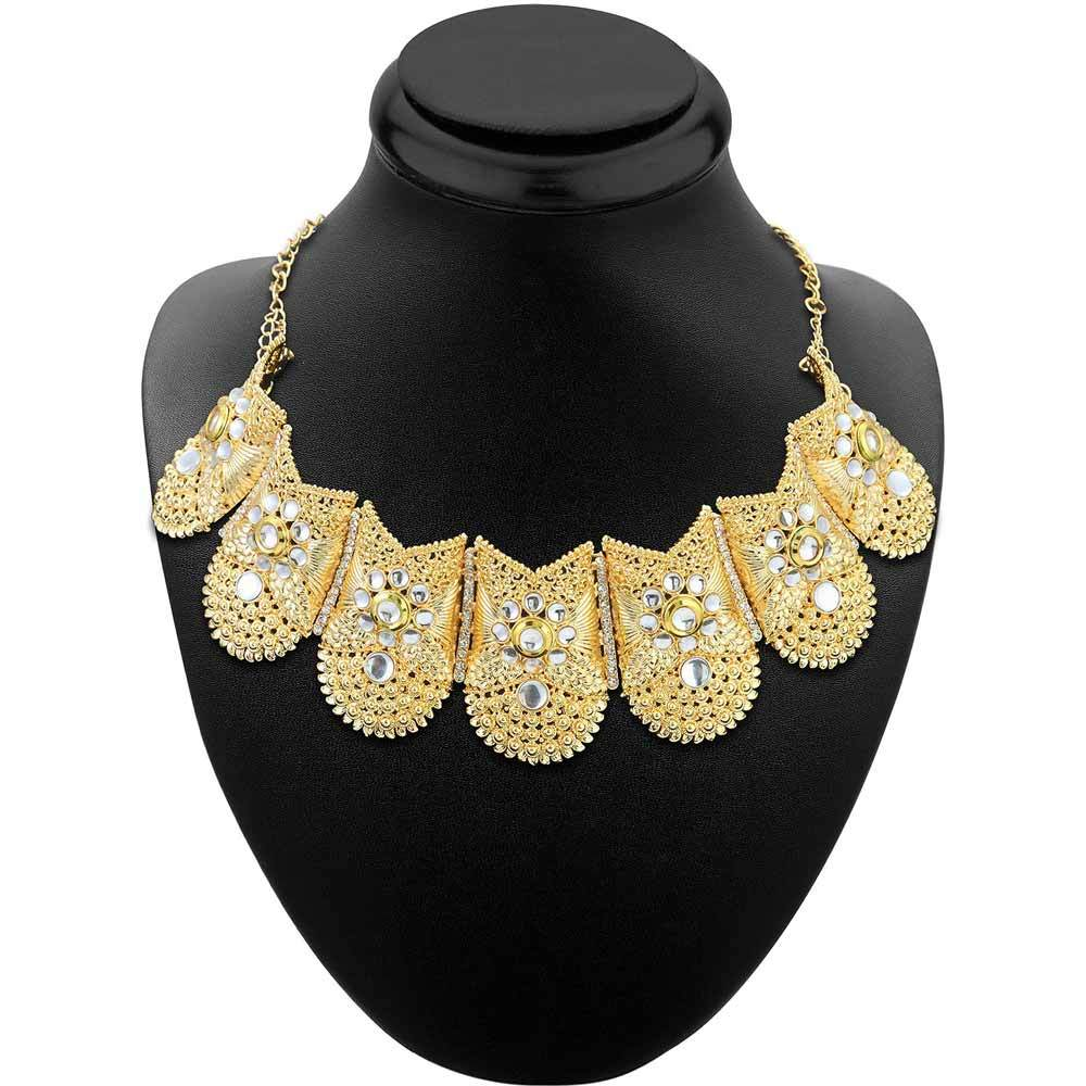 Sukkhi Lavish Gold Plated Choker Necklace set For Women