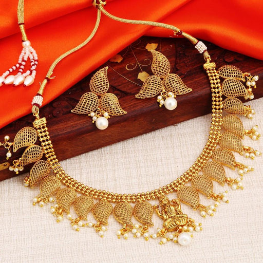 Sukkhi Blossomy Gold Plated Temple Necklace Set For Women