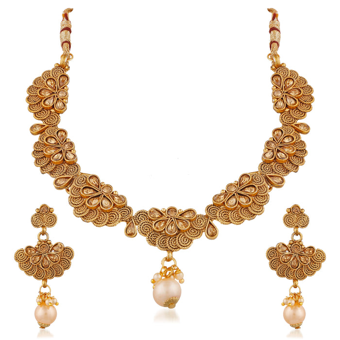Trushi Adorable Gold Plated Jalebi Necklaces Set For Women