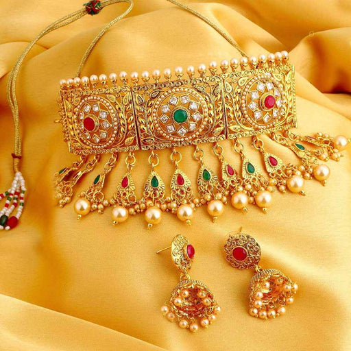 Sukkhi Bollywood Gold Plated Choker necklace set for Women