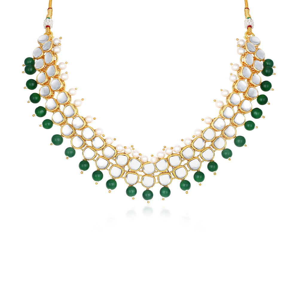 Trushi by Sukkhi Trendy Gold Plated Necklace Set for Women