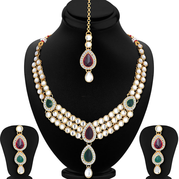 Trushi by Sukkhi Astonish Gold Plated Necklace Set for Women