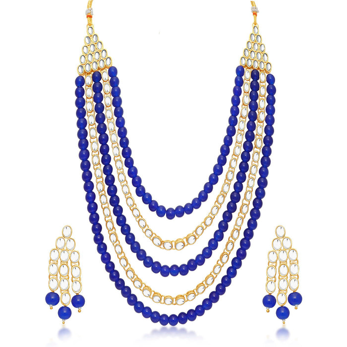 Trushi by Sukkhi Ritzy Gold Plated Necklace Set for Women