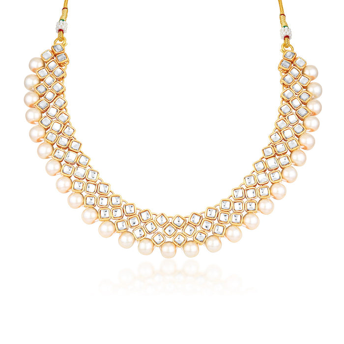 Trushi by Sukkhi Modish Gold Plated Necklace Set for Women