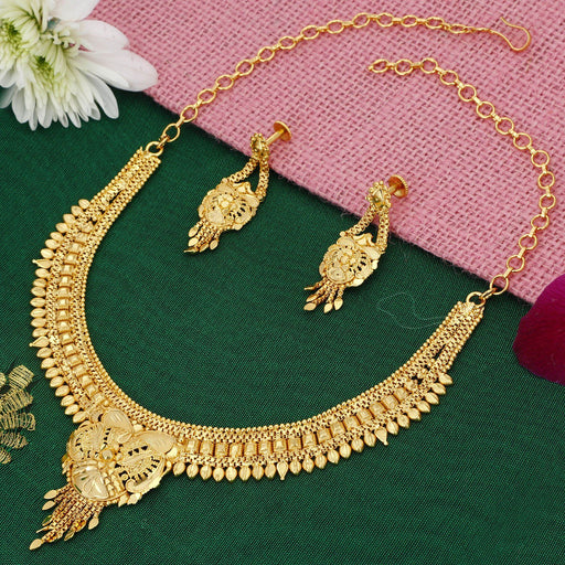 Sukkhi Brilliant Alloy 24 Carat 1 Gram Gold Jewellery Necklace Set for Women