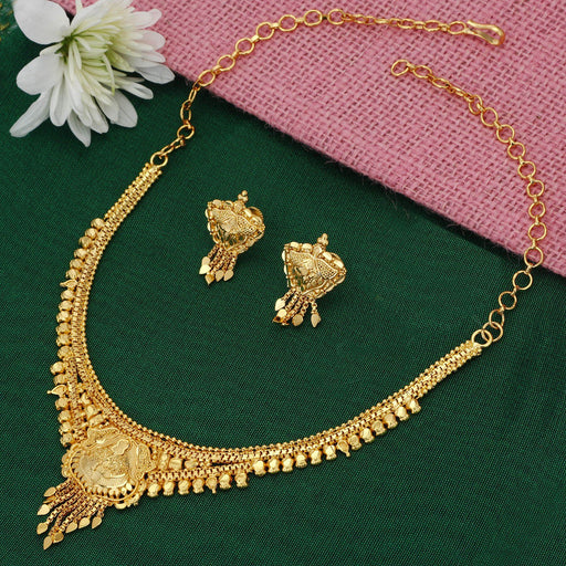 Sukkhi Designer 24 Carat 1 Gram Gold Jewellery Necklace Set for Women