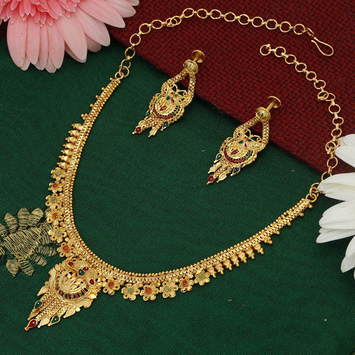 Sukkhi Graceful 24 Carat 1 Gram Gold Jewellery Necklace Set for Women