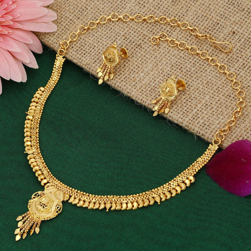 Sukkhi Marvellous 24 Carat 1 Gram Gold Jewellery Necklace Set for Women