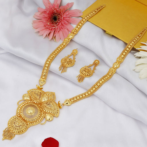 Sukkhi Exotic 24 Carat 1 Gram Gold Jewellery Necklace Set for Women