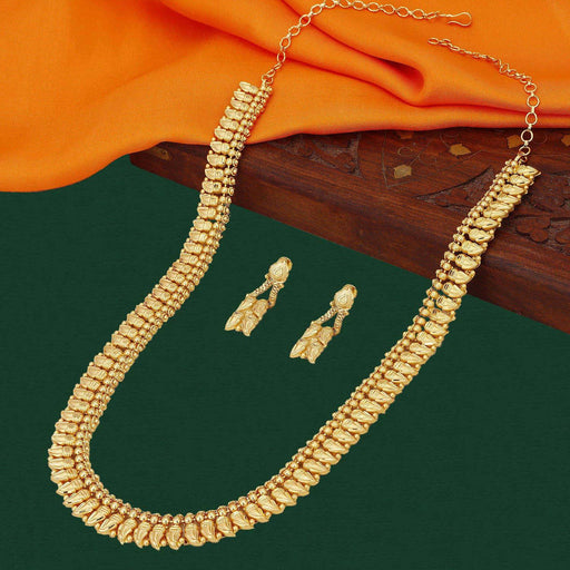 Sukkhi Gorgeous 24 Carat 1 Gram Gold Jewellery Rani Haar Necklace Set for Women
