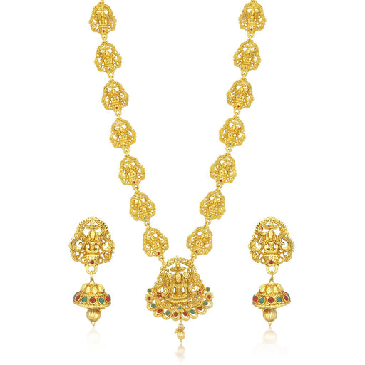 Sukkhi Modern Gold plated Temple Necklace Set for Women