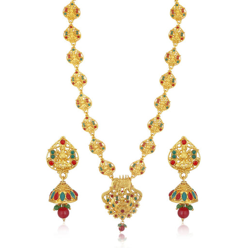 Sukkhi Stylish Gold plated Temple Necklace Set for Women