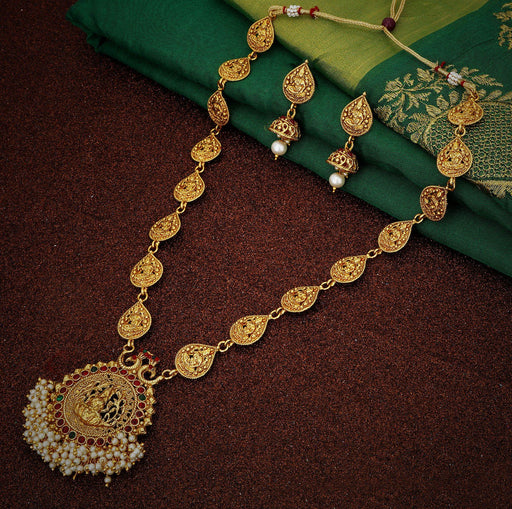 Sukkhi Marvellous Gold plated Temple Necklace Set for Women