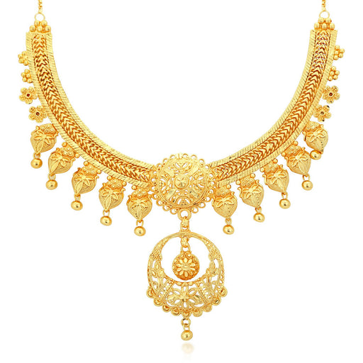 Sukkhi Gorgeous 24 Carat 1 Gram Gold Jewellery Necklace for Women