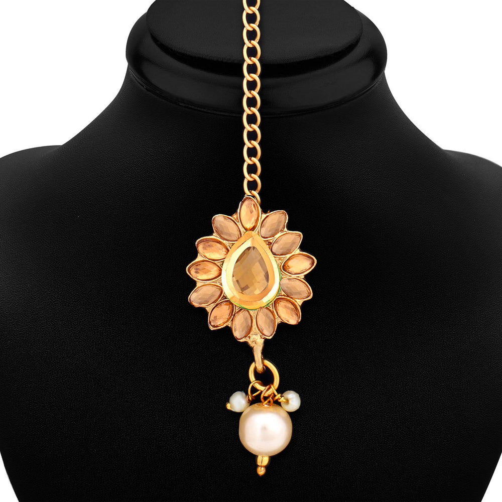Sukkhi Dazzling Floral Gold Plated LCT Necklace Set for Women