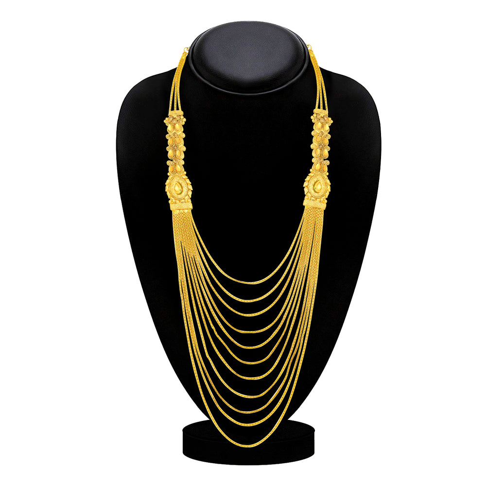 Sukkhi Fashionable Gold Plated LCT Stone Long Haram Necklace for Women