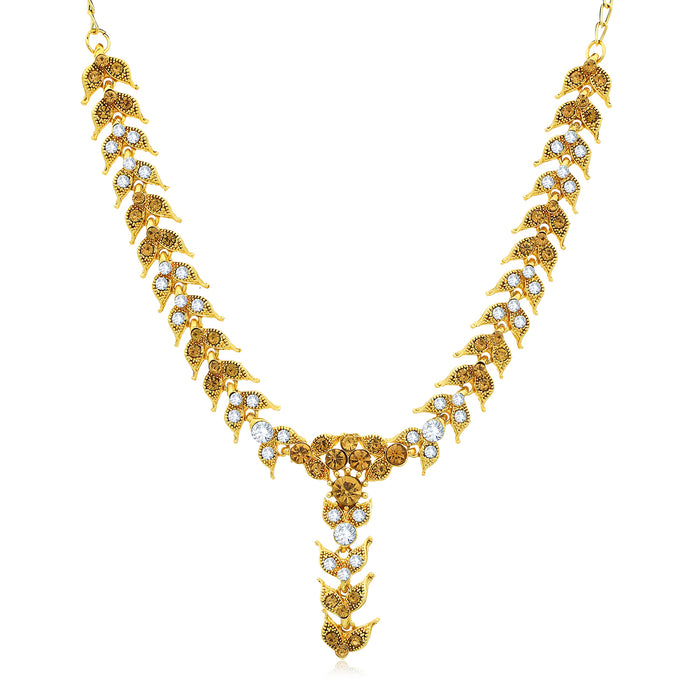 Sukkhi Glitzy Gold Plated LCT and Collar Necklace Set for Women
