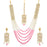 Sukkhi Charming Gold Plated Kundan and Pearl Long Haram Necklace Set for Women