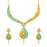 Sukkhi Youthful Gold Plated Kundan Mint Meena Collection Choker Necklace Set for Women