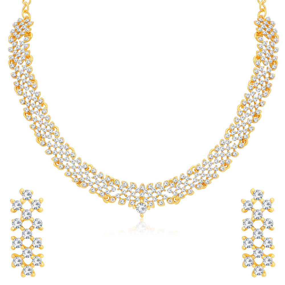 Sukkhi Mesmerizing Gold Plated Necklace Set for Women