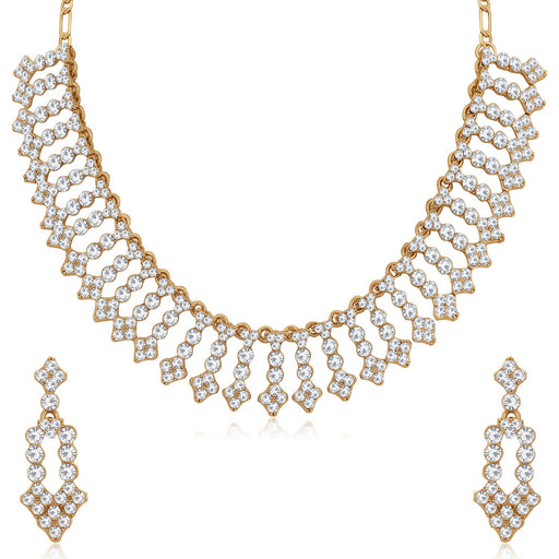 Sukkhi Incredible Mehandi Gold Plated Choker Necklace Set for Women